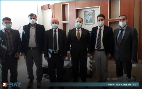 وفد من الكوردستاني - سوريا يزور المديرية العامة لصحة دهوك
