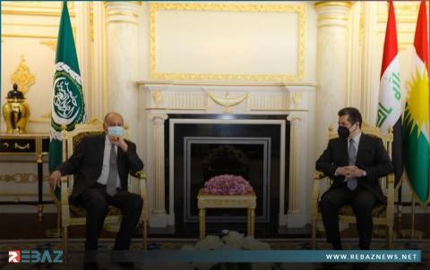 مسرور بارزاني: نأمل دوراً حيوياً من الجامعة العربية لحل المشاكل المتراكمة في العراق