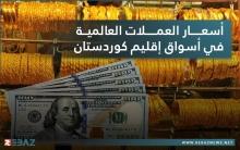 أسعار العملات في أسواق إقليم كوردستان