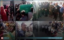 دهوك... تشييع مهيب ومشاركة واسعة في مراسم وداع ودفن جثماني شهيدين من مقاتلي قوات بيشمركة روج